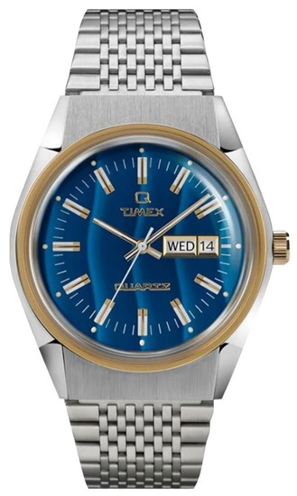 TIMEX Q Timex Reissue Falcon Eye 38mm Stainless Steel Bracelet Watch TW2T80800
