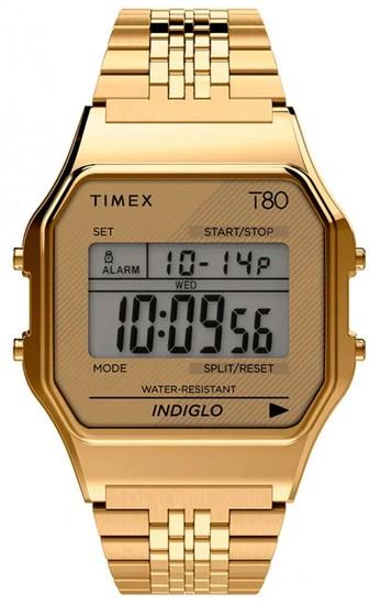TIMEX T80 34mm Stainless Steel Bracelet Watch TW2R79200