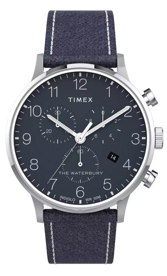 TIMEX Waterbury Classic Chronograph 40mm Leather Strap Watch TW2T71300