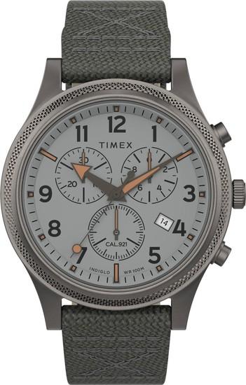 TIMEX Allied LT Chronograph 42mm Fabric Strap Watch TW2T75700