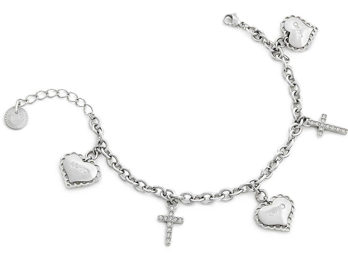 LIU JO Bracelet With Heart And Cross LJ1453