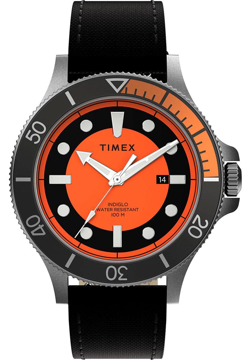 TIMEX Allied® Coastline 43mm Fabric Strap Watch TW2U10700