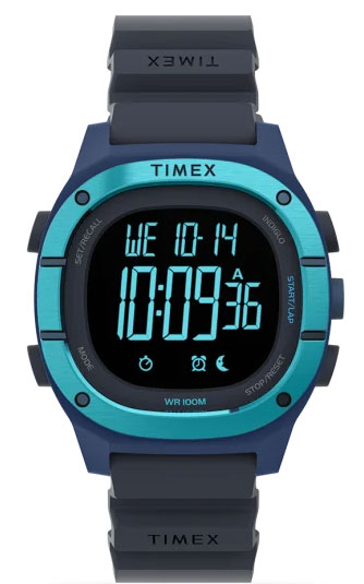 TIMEX Command LT 40mm Silicone Strap Watch TW5M35500